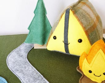 Dwelling Series - Tent and Campfire Play Set