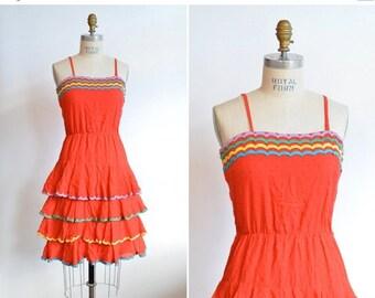 Sale Vintage 70s Burgundy Swing Disco Dress Dirty Dancing