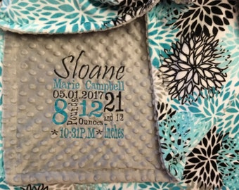 Personalized Blanket - Personalized baby blanket