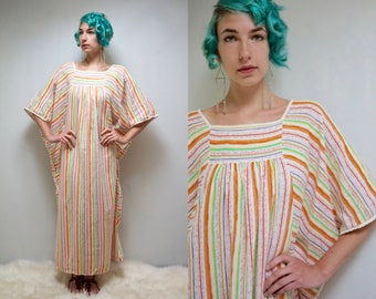 70s Caftan  //  Cotton Caftan //  Kaftan Dress  //  THE FANTE