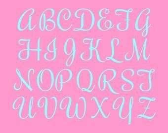 2 Inch Vinyl Letter Alphabet Set, Vinyl Letters, Cut Vinyl Letters, Letter Stickers, Cut Vinyl (ROC)