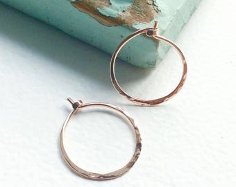 Handmade mini gold fill hoop earrings, gold hoop earrings, gift for her, birthday gift