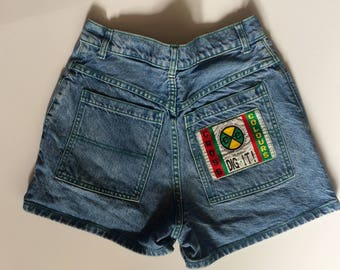 "Cross Colours Women's Jean Shorts - Denim - Jorts - High Rise / High Waisted - 90s - Size M /28"""