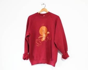 Vintage Tweety Looney Tunes Warner Brothers Sweatshirt
