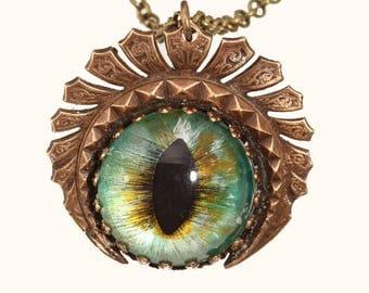Dragon Eye Necklace Dragon Eye Pendant Dragon Eye Jewelry Dragon Eye Green Dragon Eye