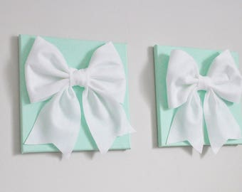 Bow Tie Wall Art, Bow Decoration, Romantic Room Decor, Mint Green Nursery, Bathroom Wall Art, Bedroom Wall Art, Dorm Decor, Gift for Her