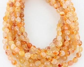 ORANGE CARNELIAN Egg Beads 10x8mm