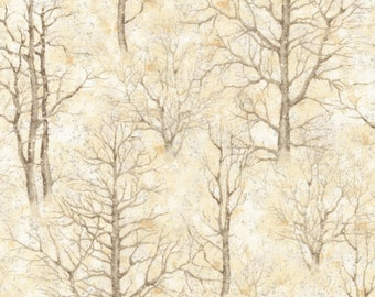 Sound of the Woods 3 Natural Metallic  - Robert Kaufman - Fat Quarter