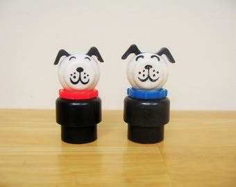 Vintage Fisher Price Little People Dogs