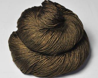 Dried brown algae - Cordonnette Silk Fingering Yarn