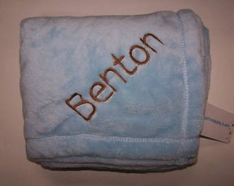 Personalized tahoe fleece baby blanket/ personalized baby blanket/ boy blanket/ girl blanket/ embroidered baby blanket