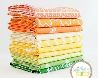 "Citrus - Fat Quarter Bundle - 10 - 18""x21"" Cuts - by Mixed Designers Quilt Fabric"