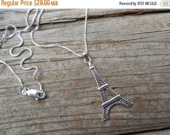 ON SALE Eiffel tower necklace in sterling silver 925