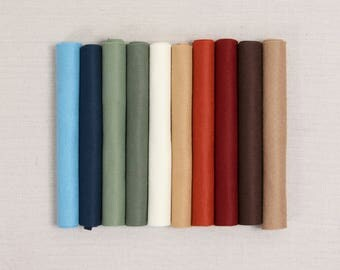 Wool Felt // Primitive // Heirloom Crafts, DIY Holiday, Wool Felt Sheets, Rustic Holiday Craft, Merino Felt Sheets, Garland Felt