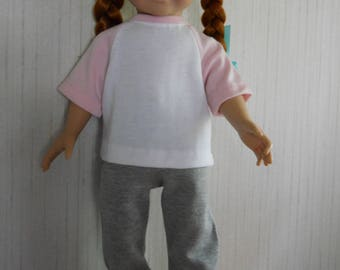 """18"""" Girl Doll Sweatpants and Top for American Girl Type Dolls"""