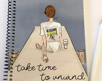 Gratitude Journal -  Take Time to Unwind -Gift Ideas - Notebooks - Gifts for Women Teachers -
