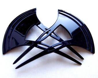 Japanese Hair Comb 2 Vintage Kanzashi Geisha Gothic Vampire Hair Jewellery Headdress Headpiece Decorative Comb Hair Accessory (EH)