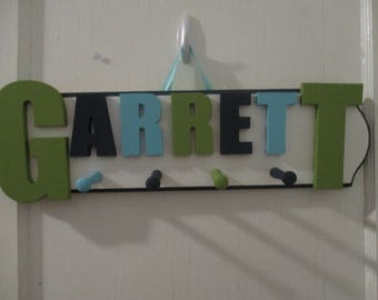 Ready to Ship Garrett Peg Rack - Ready to Ship Coat Rack - Garrett Sign