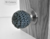 Ball Shaped Door Knob Covers Modern Design Toddler Protection Crocheted Home Decor Custom Colors Sphere