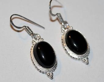 Gem Stone Sterling Silver Earrings