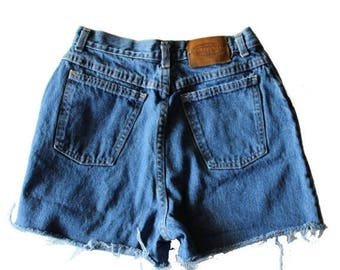 50% half off sale // Vintage 90s Sonoma Blue Cut Off Denim Shorts Women M // Made in America, summer jean shorts