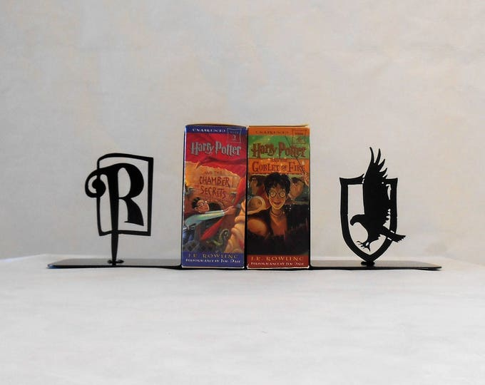 Metal Art Bookends, Movies, Books, Organizer, Metal Art, Shelf Decor, Ravenclaw