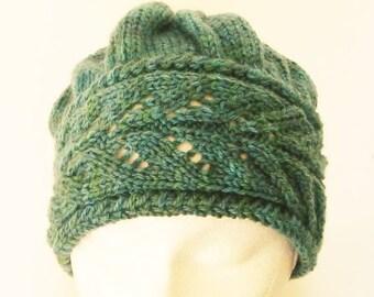 Leaf lace beanie hat