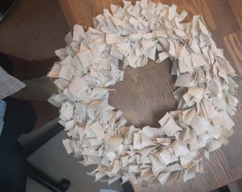Canvas Rag Wreath