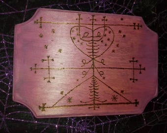 Maman Brigitte Voodoo Loa Veve Altar tile