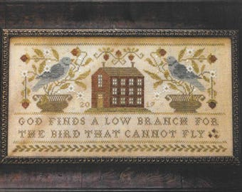 Counted Cross Stitch Pattern, Faith of the Heart, Inspirational, Cross Stitch, Bluebird, Saltbox House, Brenda Gervais, PATTERN ONLY