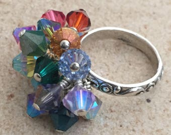 Spectrum Wonder Sterling Silver Ring