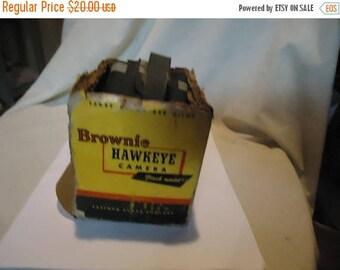 Back Open Sale Vintage Eastman Kodak Brownie Hawkeye Flash Model Box Camera With Box, collectable