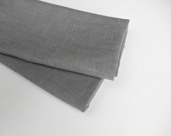 Gray Linen Napkins, Cloth Napkins, Table Napkins, Dinner Napkins
