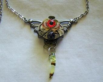 Vintage Watch Works Dragon's Talon Triple Moon Eye Pendant