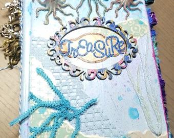 Octopus theme Journal (junk journal nautical)