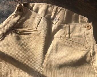 Original 1920s Breeches. Very Fine Wool Cord.