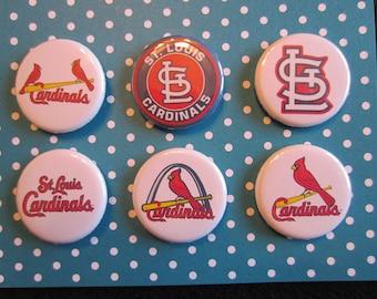 St. Louis Cardinals Pin Back Buttons, St. Louis Cardinals, Buttons, Novelty Buttons, Novelty Pins, Cardinal Magnets, STL