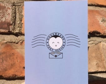 Hogsmeade Post Office Greeting Card - Harry Potter - Owl Post Delivery Stamp - Size A6 Blank Inside