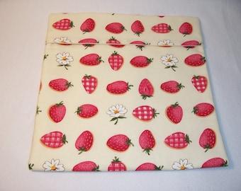 Handmade Microwave Potato Bag,Kitchen,Dining,Gifts,Strawberry Print,Bake Potato,Bake Potato Bag