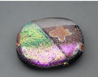 CLEARANCE Fused Dichroic Glass Cabochon