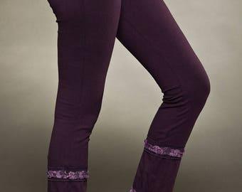 BIG SUMMER SALE 25% Off Long Leggings and A Little Lace - Yoga Pants - Cotton Leggings