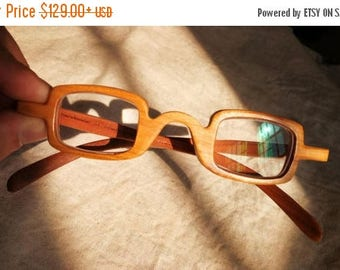 20% off SUMMER SALE New work from TAKEMOTO cherry wood square small Mjx1703  handmade prescription sunglasses glasses