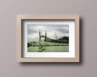 Budapest Liberty Bridge Photo Print, Danube River, Hungary Photography, Travel Photo, European Print, 8x10 print