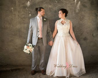 Ivory, Champagne and Blush Wedding Dress