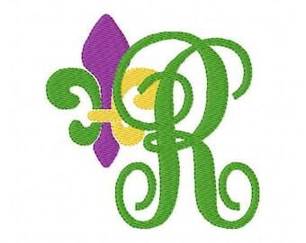 Fleur de Lis // Machine Embroidery Monogram Font Design Set // Machine Embroidery Designs // Embroidery Font // Joyful Stitches