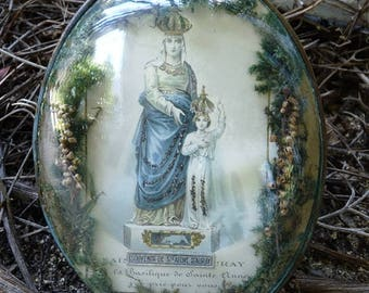 Antique French Saint Anne Reliquary, offered by RusticGypsyCreations