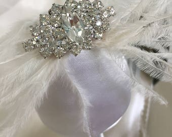 Feather Wedding Shoe Clips - Wedding Shoe Clips- Crystal Wedding Shoes - Feather Wedding Shoes - Crystal & Feather Removable Wedding Clips