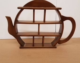 Vintage Teapot Shelf