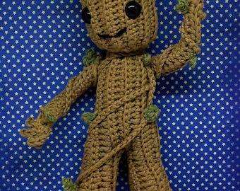 baby Groot handmade collectable doll inspired by guardians of the galaxy