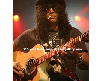 "Slash of Guns N' Roses Concert Photo - 8"" x 10"""